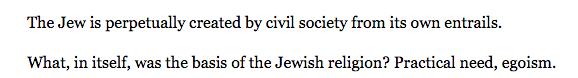 """Karl Marx """"On The Jewish Question"""""""