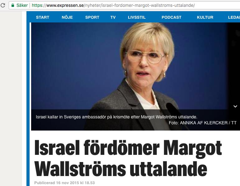 Skärmdump  från Expressen .