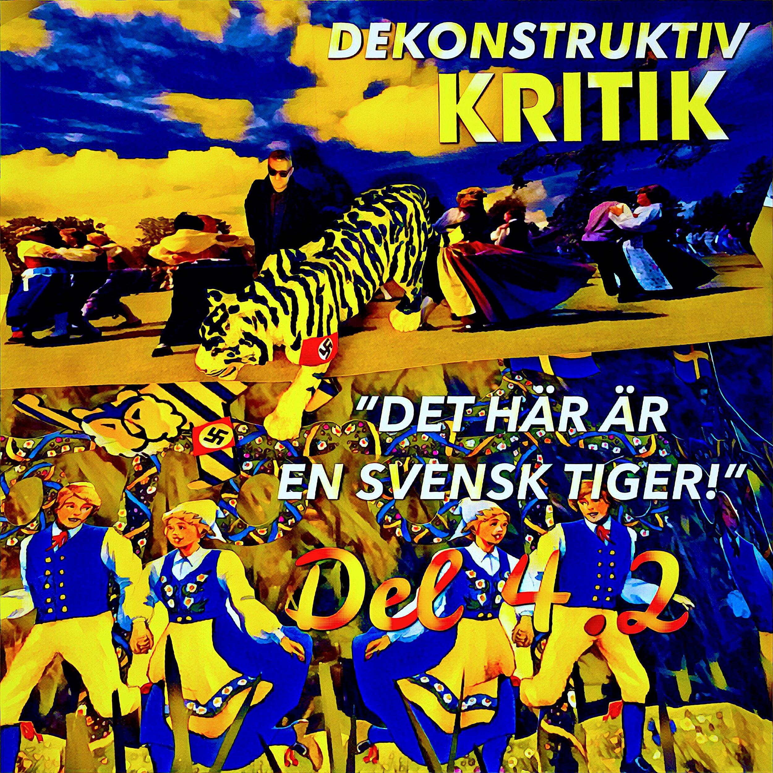 Den svenska tigern och ,mini-Aron på midsommarfirande 2018.
