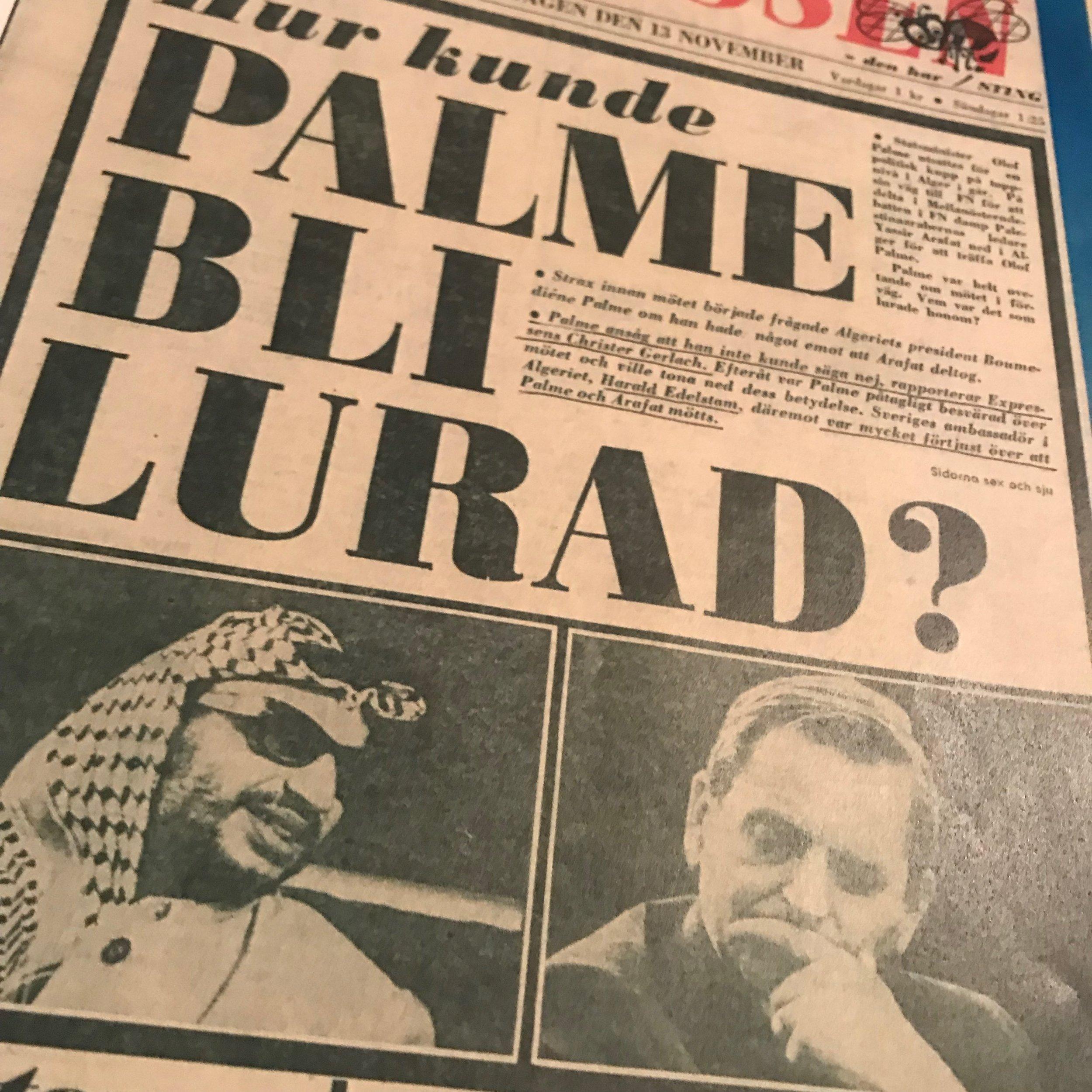 Expressen onsdagen den 13 november 1974.