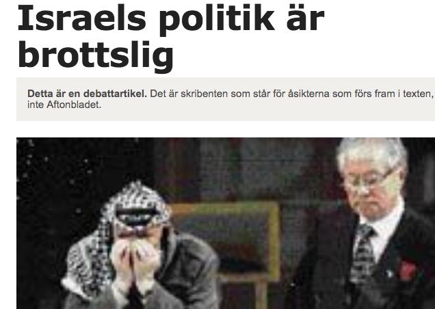 Sten Andersson i  Aftonbladet
