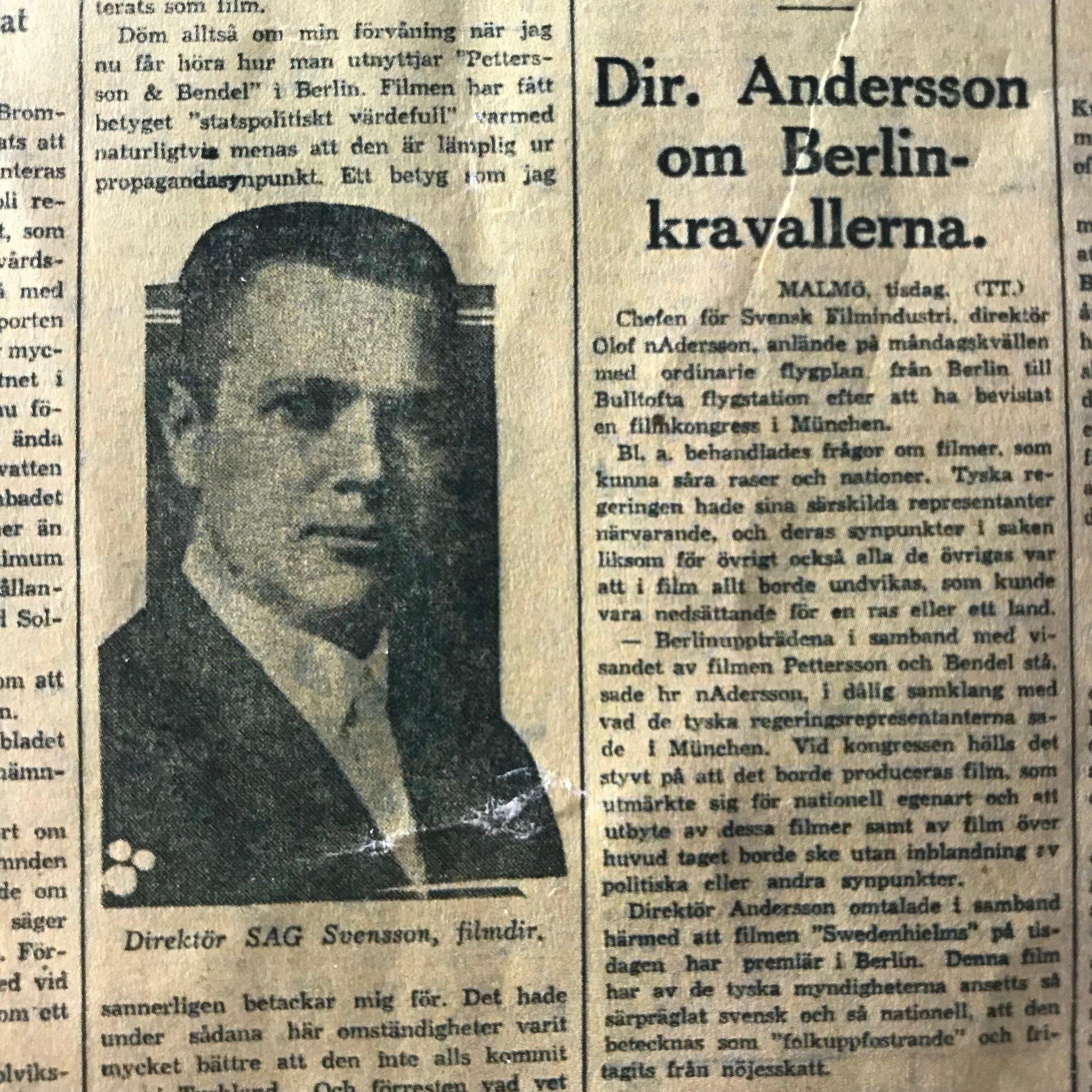 Direktör Svensson var en stilig karl.
