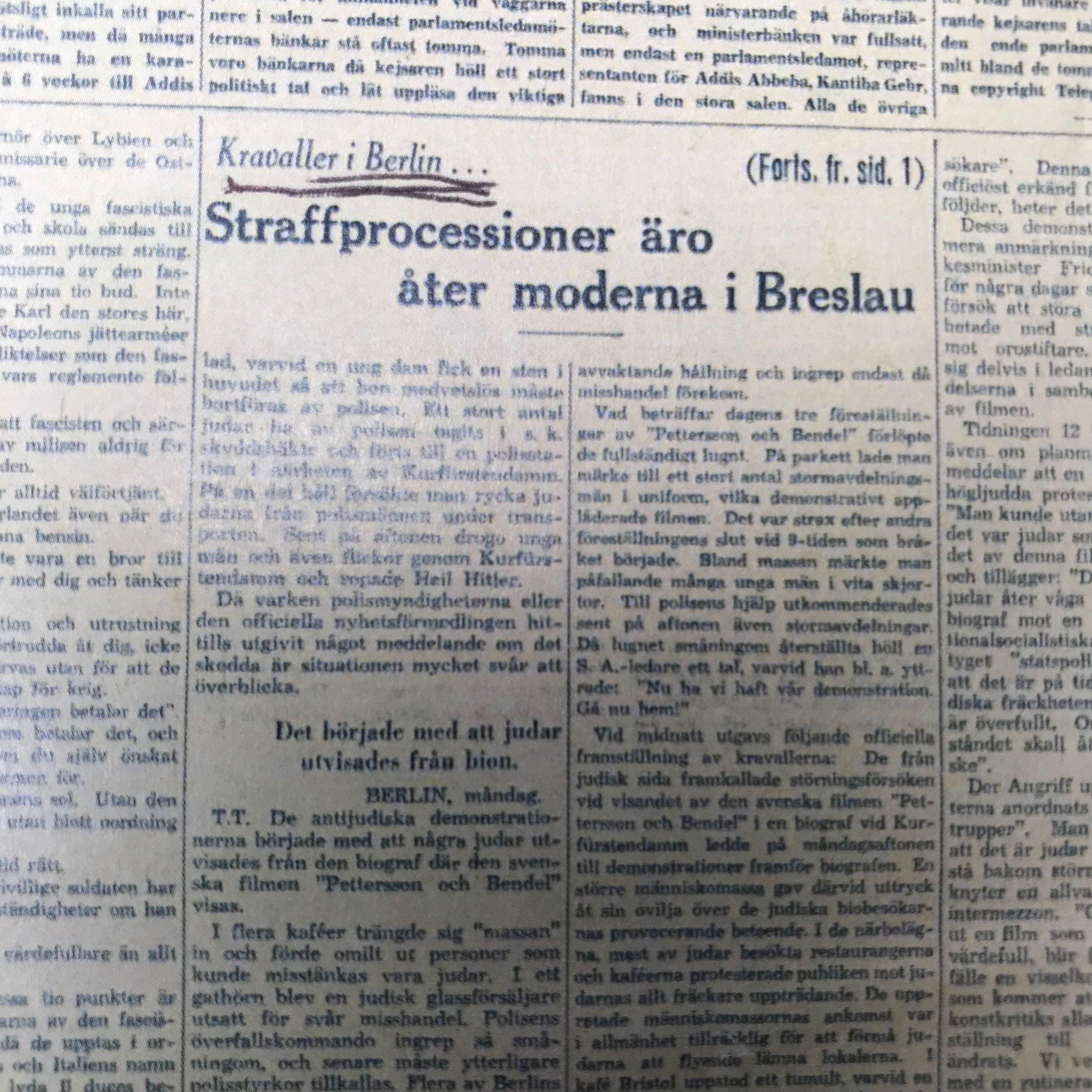 Dagens Nyheter om Breslau