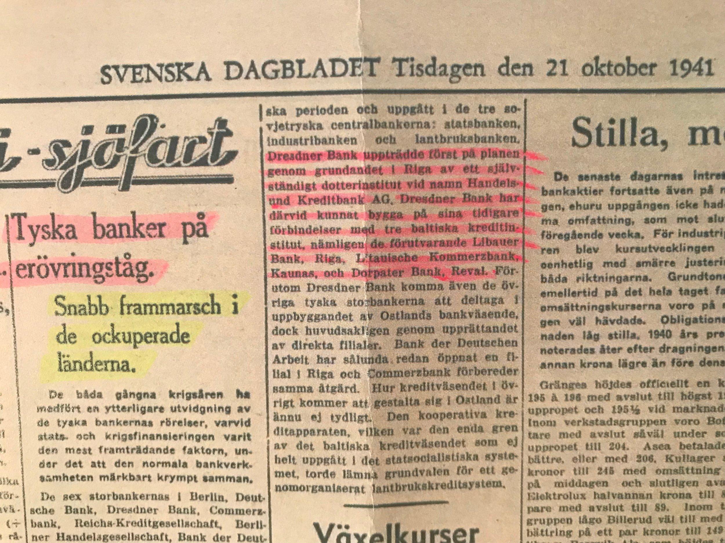 SvD, 21:a okt, 1941