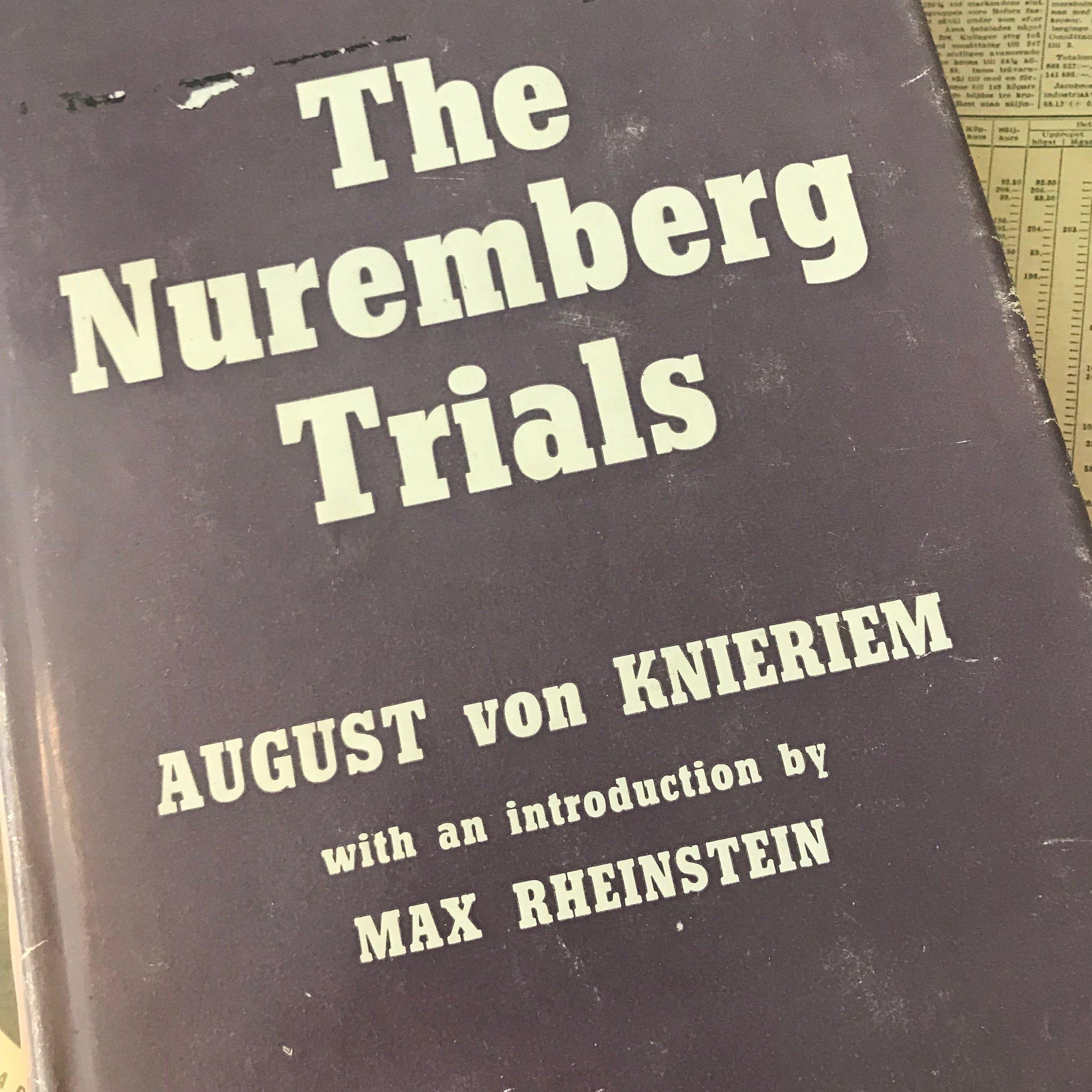 """""""The Nuremberg Trials"""" av August von Knierim"""
