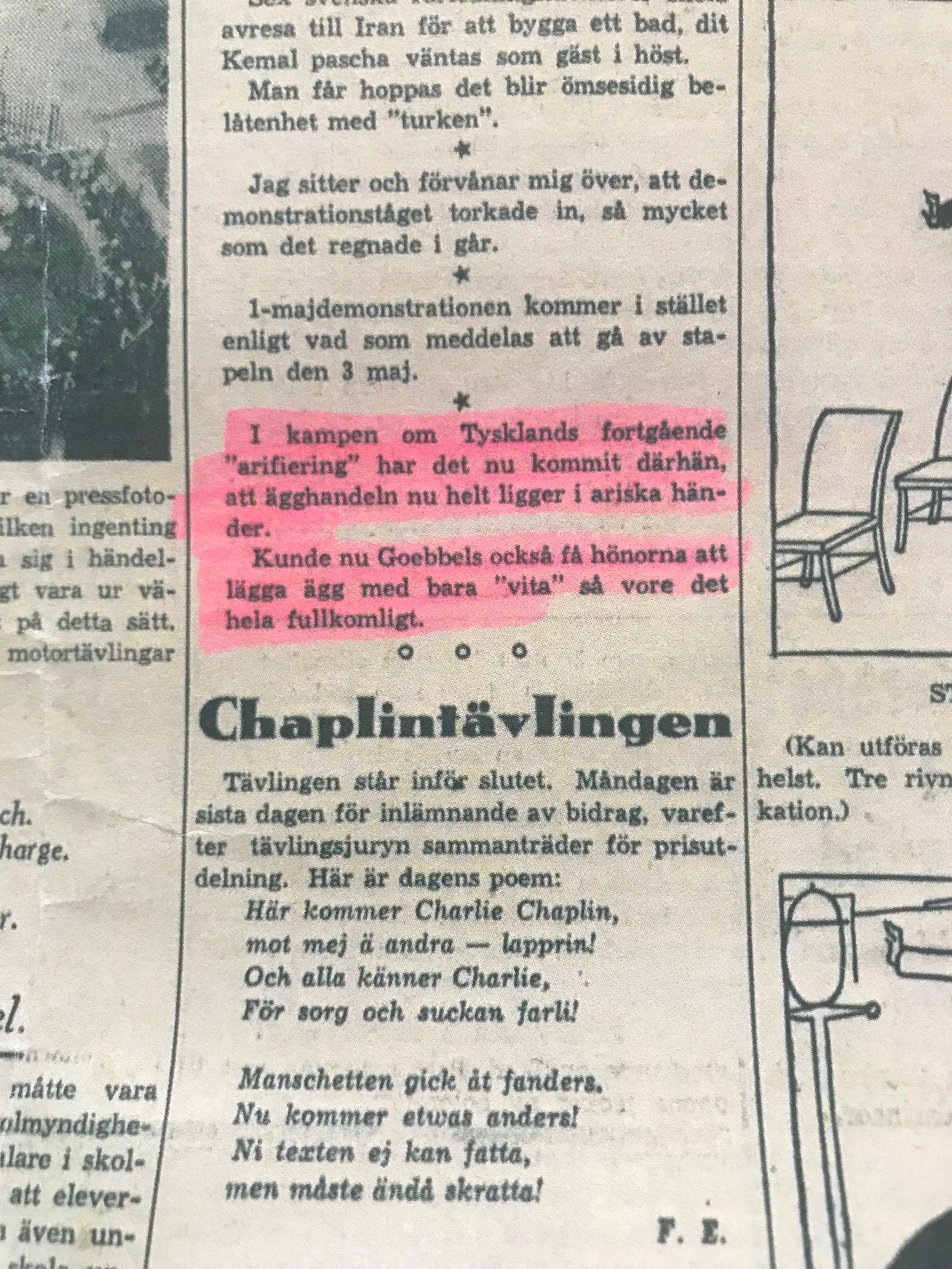 """Aftonbladet, """"I BLINKEN"""", Lördagen den 2 Maj 1936"""