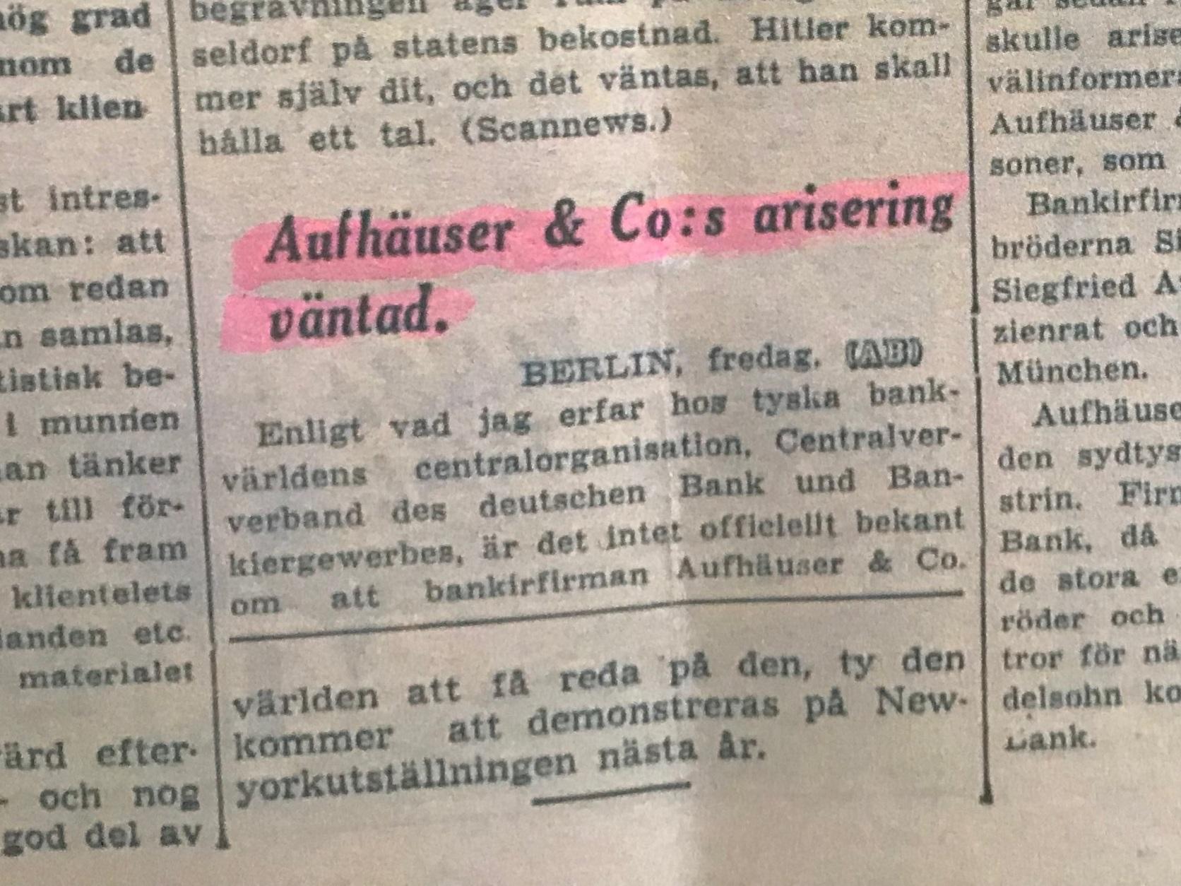Aftonbladet fredagen den 11:e november 1938 sid 18
