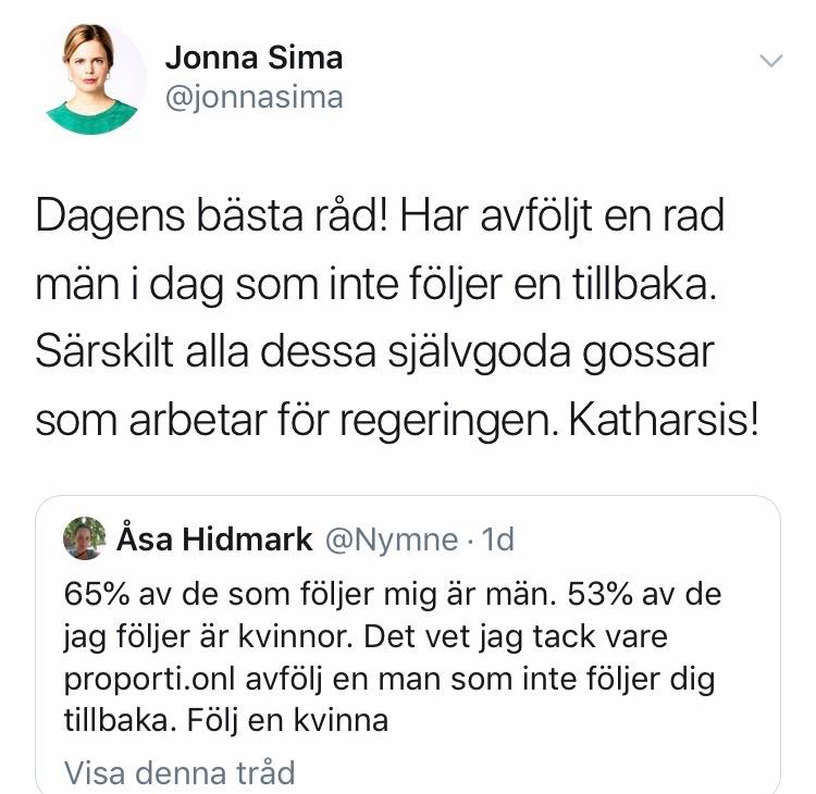 Jonna Sima jobbar som tyckare åt arbetarrörelsen.