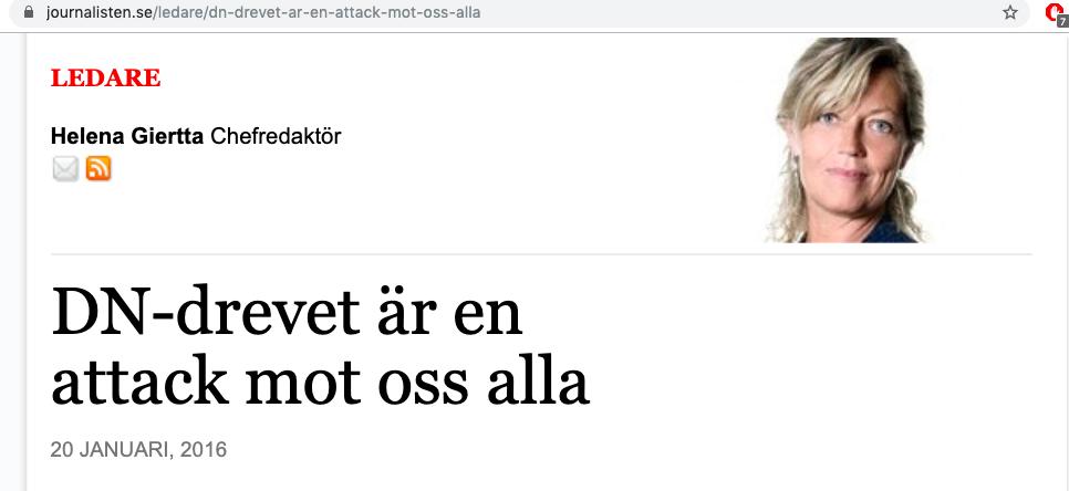 """Nepotism galore i svenska branschtidningen """"Journalisten"""". En tidning som bevakar journalistik på samma sätt som Pravda betyder sanning."""