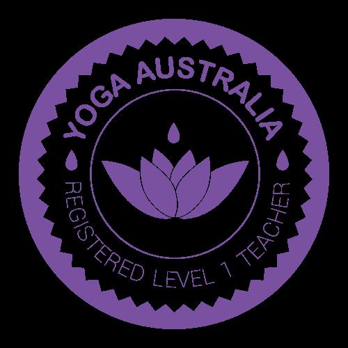 Yoga Australia Registered Level 1 Teacher Logo