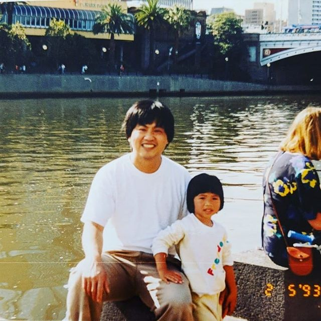 Snap of me and my dad in 1993. Back when photos were printed with the date on them! 😁 Me and my dad with matching bowl haircuts. 🤣 . . 💚💙💜 H A P P Y . F A T H E R S . D A Y to Dads, Mums, Brothers, Sisters, Uncles, Aunties, Kiddies, Mentors, Coaches, Friends, etc past, present & future carers and nurtures. This day may be joyful & bittersweet at the same time. There is always room for both to co-exist. To be happy & sad at the same time. Being human is a very full and complex emotional experience. 💜💙💚 . . . #fathersday #dad #carers #fathers