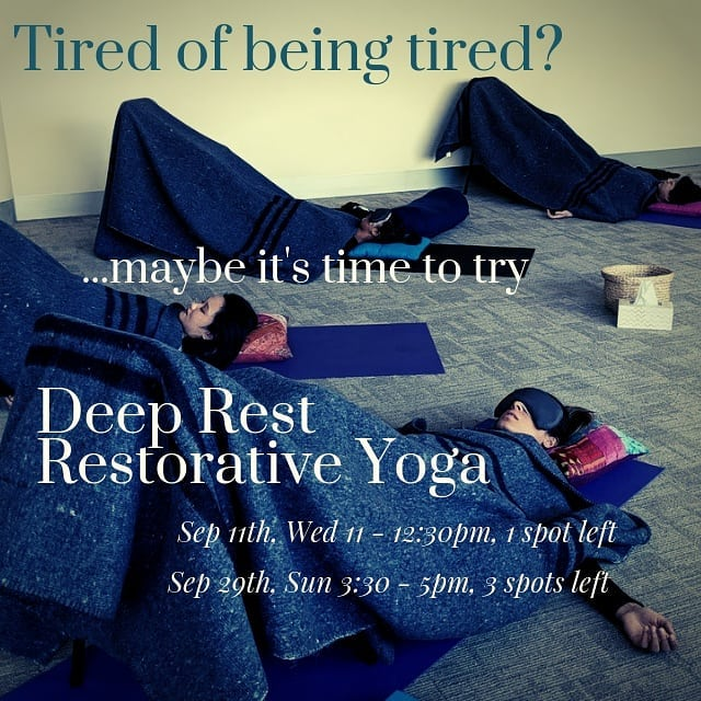 🍀Only ONE lucky spot left for our next monthly Wednesday Deep Rest Restorative Yoga next week! Is it yours? 🦜Earlybird rate finishes end of today! . . By request, we have introduced an extra monthly Wednesday Deep Rest Restorative Yoga Session, on the second Wednesday of the month. This late morning session has a core group that are keen to practice Restorative Yoga every month, so have priority placing. One spot becomes available from time to time, so enquire to be placed on the waitlist. . . The monthly Sunday Restorative Session is now at a new afternoon time of 3:30 - 5:00 pm and runs on the last Sunday of the month. . . This is a deeply relaxing practice with supported postures designed to rejuvenate and nurture your mind, body and soul. This is perfect when you feel run down, tired or recovering from illness or injury. It's like a mini vacation every time. Book in to avoid missing out. . . Past Dates: June 30th, Sun 11:00 - 12:30 pm - SOLD OUT July 14th, Sun 11:00 - 12:30 pm - SOLD OUT July 28th, Sun 11:00 - 12:30 pm - SOLD OUT Aug 14th, Wed 11:00 - 12:30 pm - SOLD OUT . . Upcoming Dates: Sep 11th, Wed 11:00 - 12:30 pm - 1 spot left Sep 29th, Sun 3:30 - 5:00 pm  Oct 9th, Wed 11:00 - 12:30 pm  Oct 27th, Sun 3:30 - 5:00 pm Nov 13th, Wed 11:00 - 12:30 pm Nov 24th, Sun 3:30 - 5:00 pm Dec 11th, Wed 11:00 - 12:30 pm . . Investment: Early Bird* $35 | Full Rate $45 . . Contact Wendy on 0401 231 574 to book in. Spots are limited. Bookings required. . . *Early Bird rate when you book & pay 1 week before the scheduled class. . . . #restorativeyogateacher #restorativeyoga #yoga #yogaprops #endeavourhills #deeprest #recharging #monthly