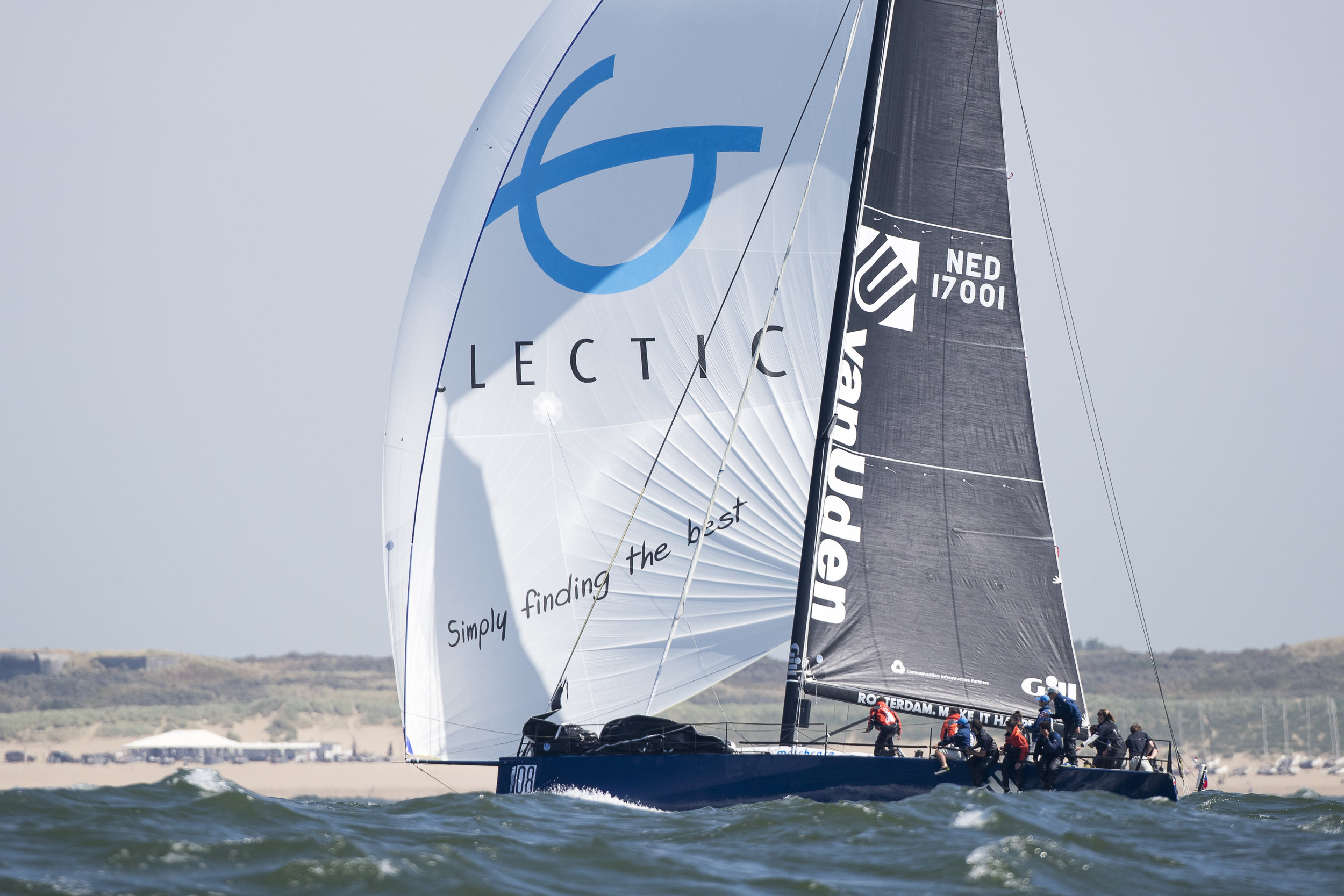Ker 46 van Uden - The McConaghy built Ker 46 Van Uden is a state of the art racing yacht. The yacht has a depth of 3.30m and weighs only 6 tons. Equiped with full carbon hull and mast, the yacht is well capable of speeds exceeding 25 knots.