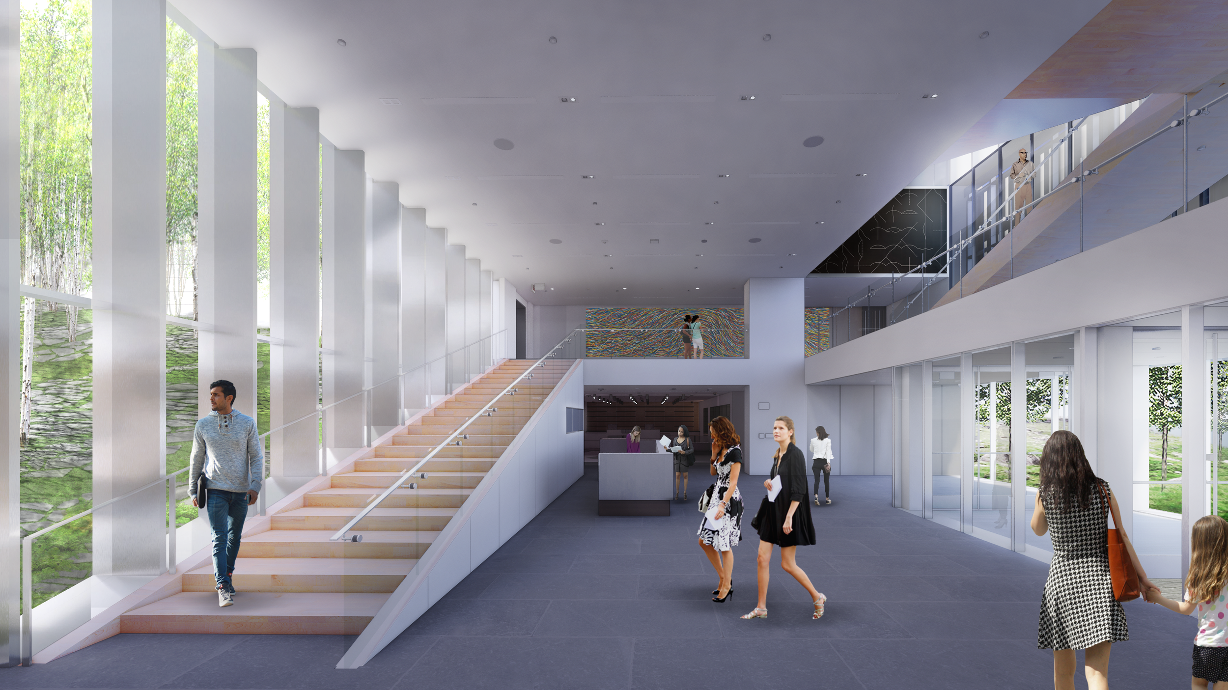 New Bruce Lobby and Grand Staircase with View into Light Court