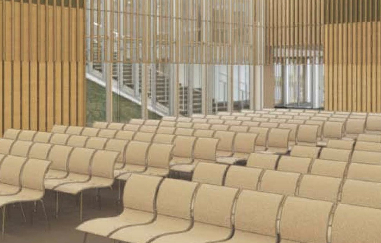Lecture Hall Chairs - The new Lecture Hall will be the heart of programming in the Museum. Expanded spaces and state-of-the art equipment will enhance the visitor experience. 200 sleek and comfortable chairs can be individually designated.