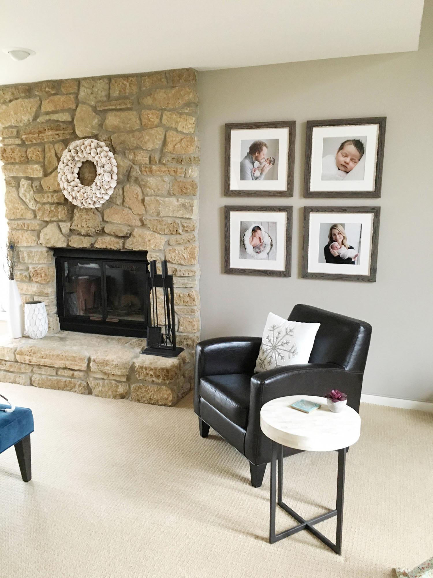 Custom artwork for the fireplace
