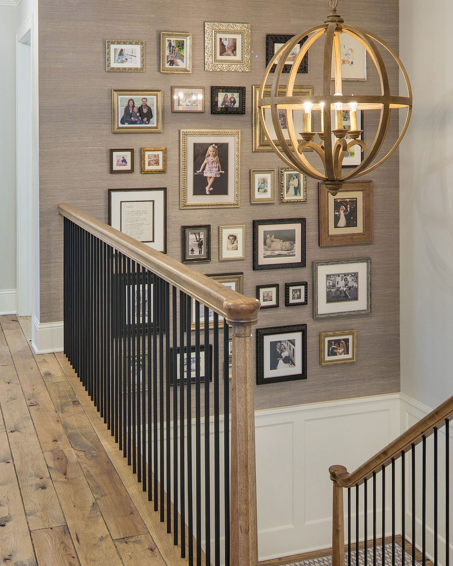 staircase photo display
