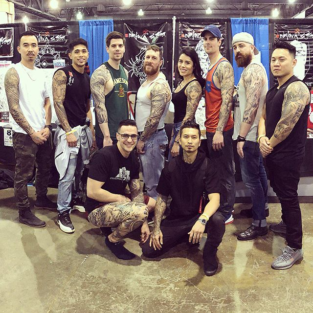 What an unreal weekend! @omkaratattoo family killed it this year! Big thanks to all my cool clients for coming through 🙏🏻🍻congratulations to @chrisromolini @conradism @dduran_art got 2nd for best original flash, @carlitosgrey 2nd in best sleeve and 3rd in best chest. I took home 1st and 2nd in black and grey.1st ,2nd, and 3rd in Japanese. 1st and 3rd in sleeve, and 2nd in leg sleeve.