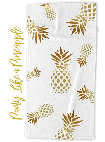 Society6 pineapple print beach towel.
