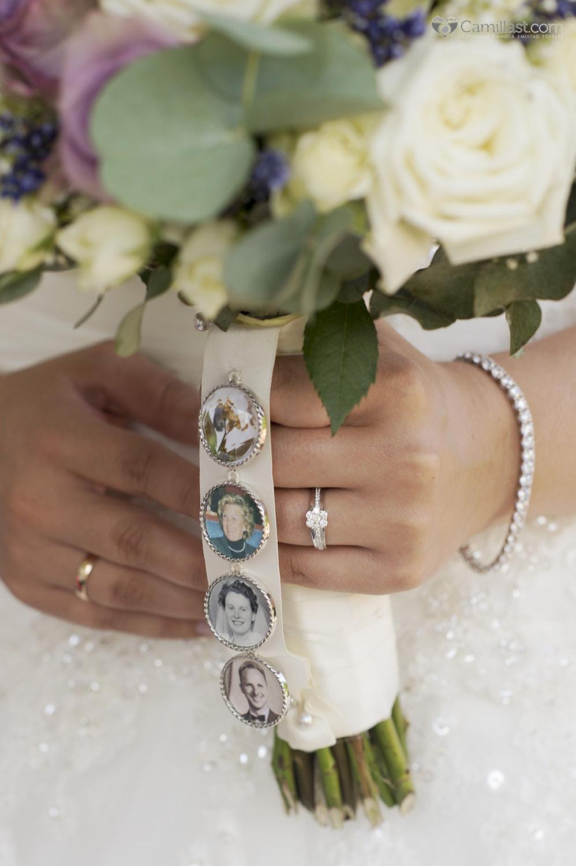brudebukett med bilder
