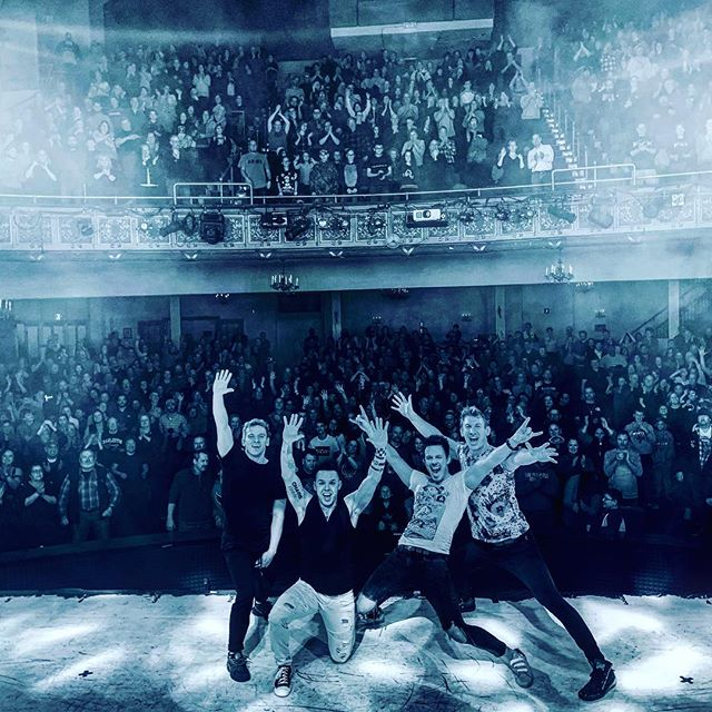 RP.NYE.12.31.18. 1 of 10 sold out shows at the Palace Theatre. • • • • • #recycledpercussion #thepalacetheatre #drummingislife #rockdrumming #idhitthat #soldoutshows
