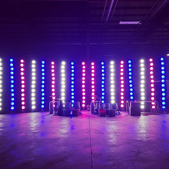 Winter Tour with @recycledpercussion is overrr!! That's a wrap on two months of coast-to-coast mayhem. Here's a look at building the light towers in a mystery warehouse! • • • • • #allofthelightsallofthelights #dmxis #enttec #diylightshow #diylights #warehouses #warehouseparty #recycledpercussion #lightshows #showmethelight #showlight #lightshowme