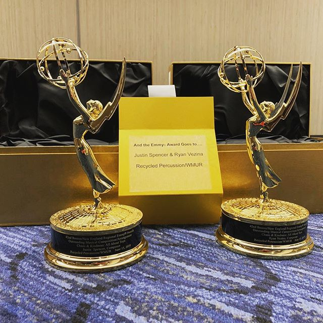 OH MY GOD Recycled Percussion's TV show Chaos & Kindness WON AN EMMY!!!! So proud of the guys. This TV show is so special be a part of, from the work that goes into planning each episode, to making it while traveling literally around the world and playing shows, to the people we meet, and those that are helped and show kindness along the way. Un. Real. Also - Season 3 just premiered, which means a whole summer of Chaos & Kindness. • • • • • #chaosandkindness #chaos #kindness #emmys #emmyawardwinning #recycledpercussion