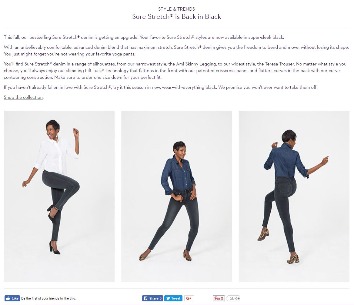 Style & Trends - Sure Stretch® is Back in Black