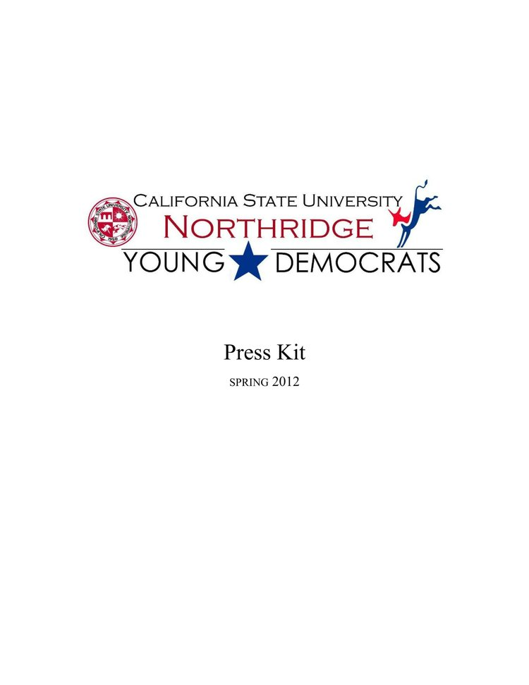 CSUN Young Democrats Press Kit