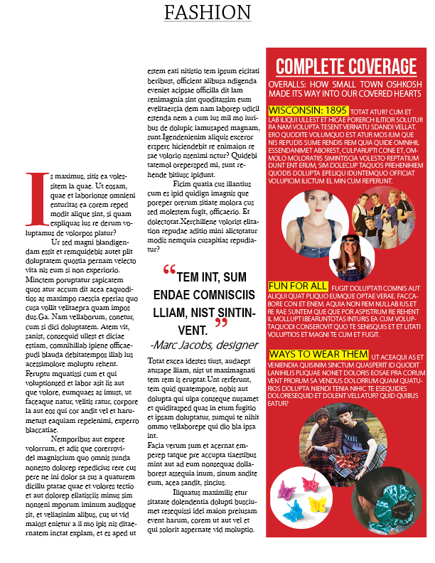 CSUN Graphic Design Assignment - Magazine Layout Page 2