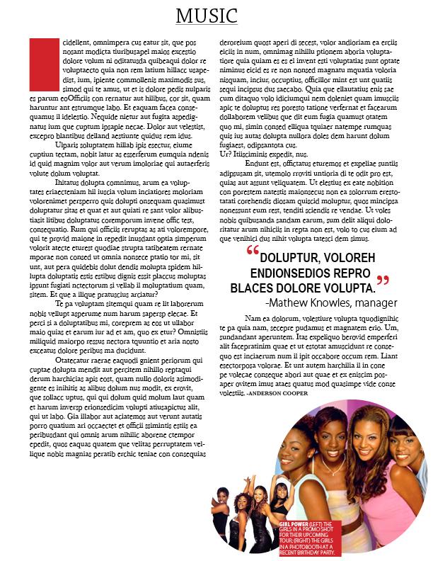 CSUN Graphic Design Assignment - Magazine Layout Page 5
