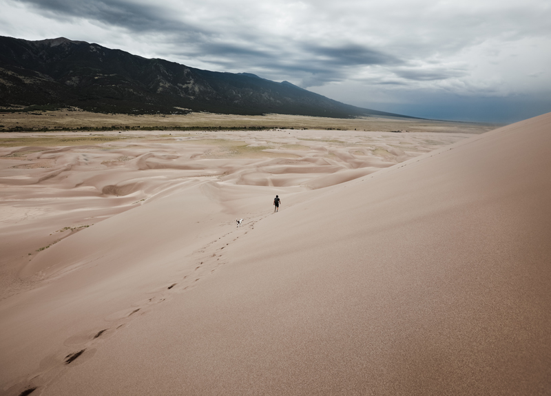 Great Sand Dunes National Park and Preserve, actually in southern Colorado... but a close drive from New Mexico.