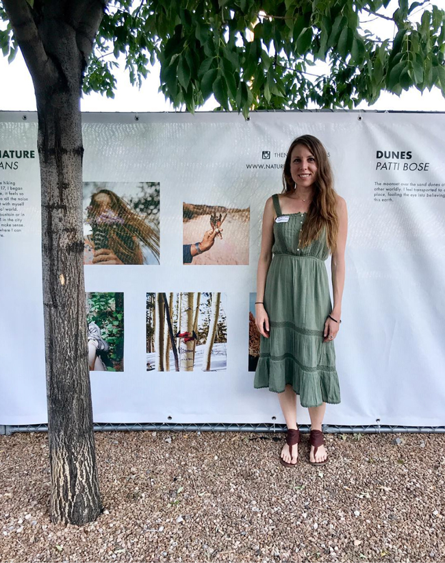 "At the opening reception in front of my section of ""The Fence"" Photo by  @ebimisphoto  for  New Mexico Magazine"