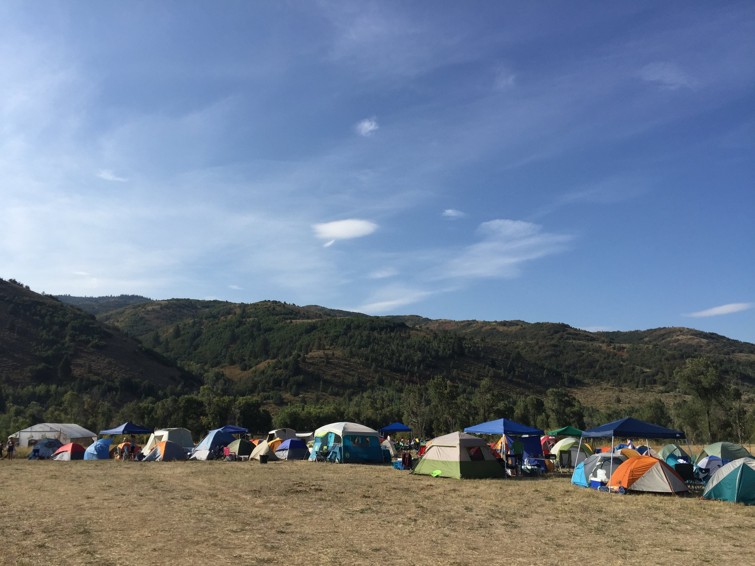 Tent City, where strangers become friends and neighbors in the same instant.