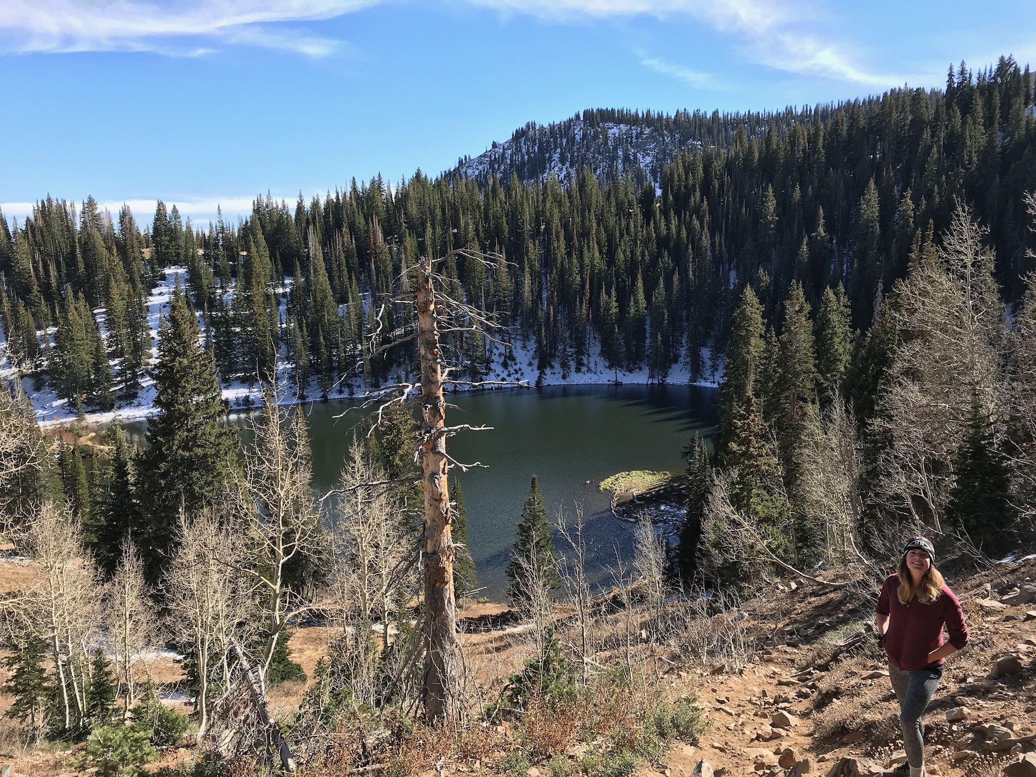 Instead of hiking Clayton Peak as an out-and-back we routed around Bloods Lake.