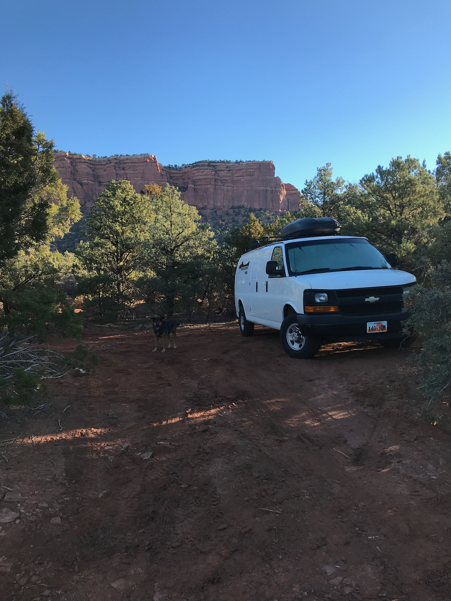 Where we rolled up the van, we evened it out for night two.