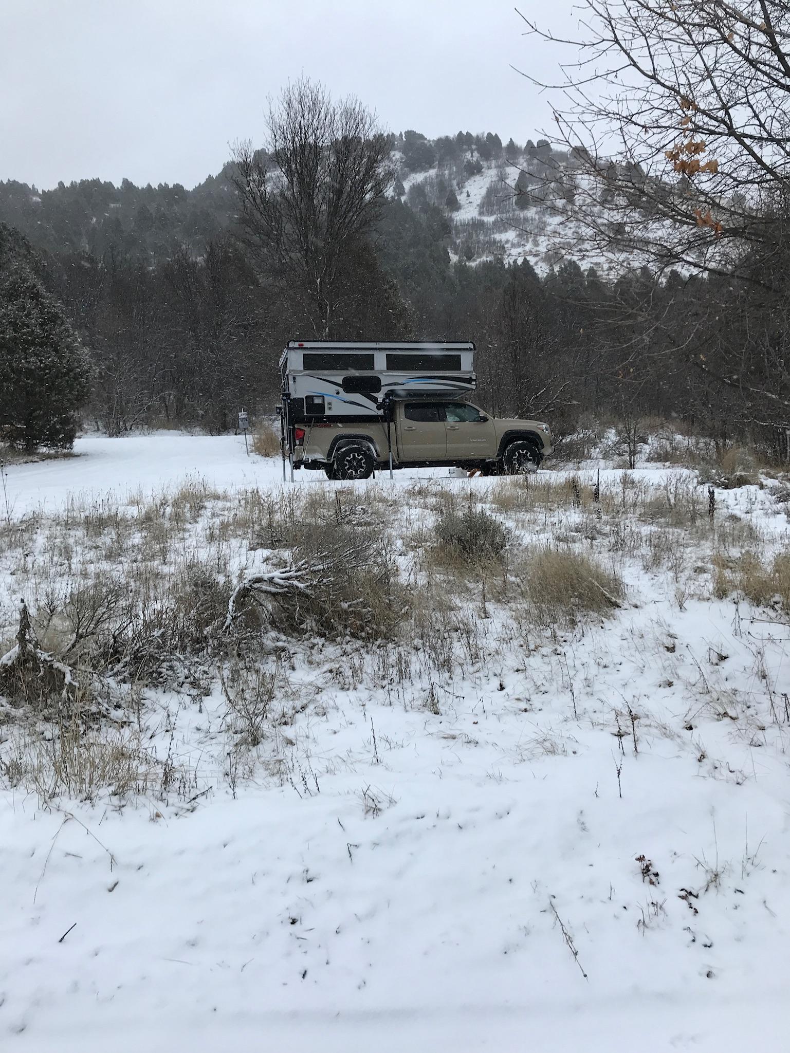 Our campsite, site 1.