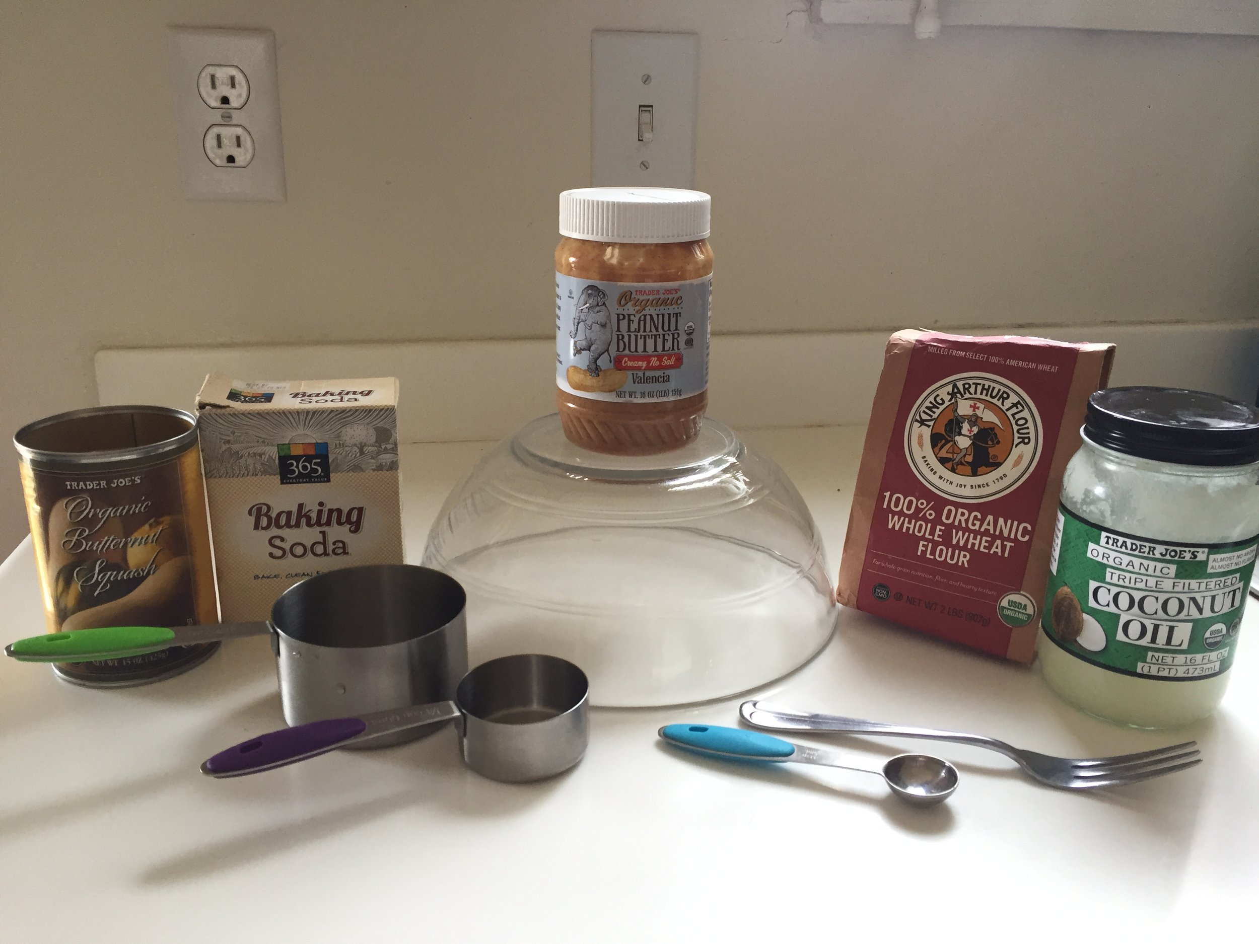 All you need to make these yummy treats! Not sponsored by Trader Joes, I'm just addicted.