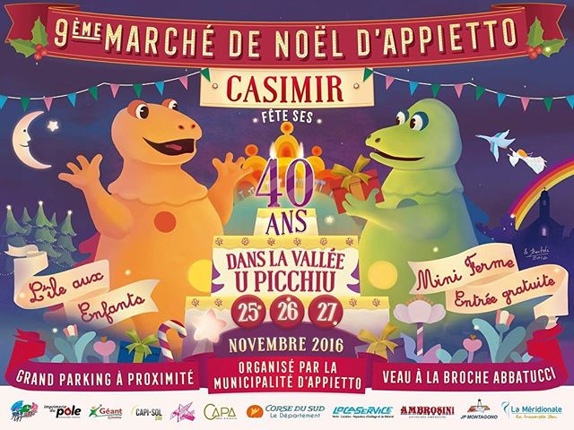 Voici venu le temps du 9e Marché de Noël d'Appietto ! #Casimir fête ses 40ans dans la Vallée📍U Picchiu 👉Les 25⭐️26⭐️27 Novembre ! . ✒️Illustration & design . #affiche #poster #marchedenoel #marche #casimir #lileauxenfants #noel #natale #christmas #market #mercatu #appiettu #appietto #corsica #40 #40ans #40years #birthday #birthdaycake #gâteau #anniversaire #cake #art #illustration #design #graphicdesign #nostalgia #artdirection #digitalart