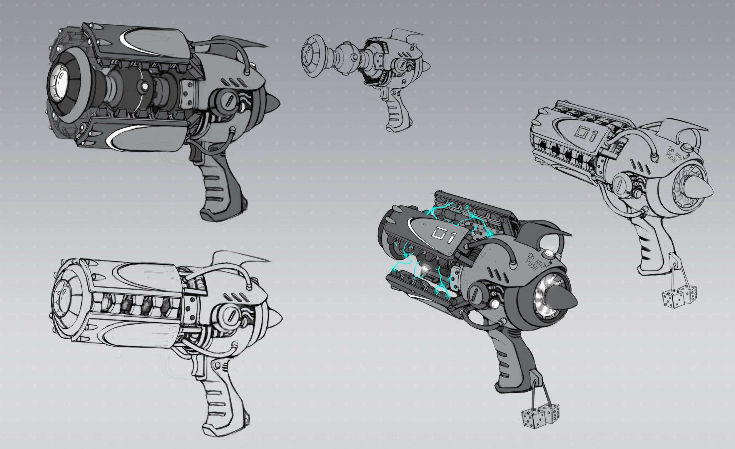 Concept art for first weapon in Vicious Circle