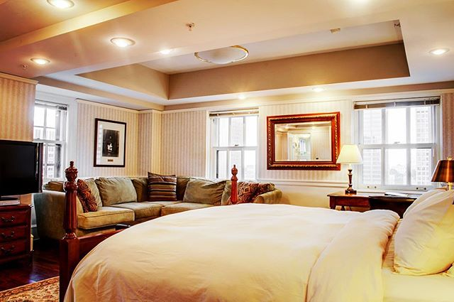 Now this is the way to live. Another one of our uniquely laid out Deluxe King Suites. #hotel340 #luxury