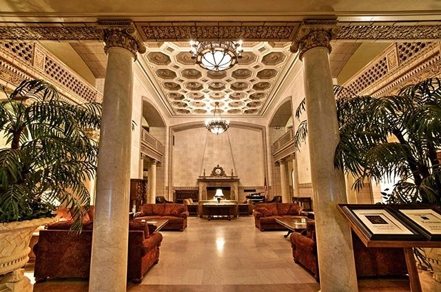 Reminiscent of the grand hotel lobbies of the early 20th century, the soaring two-story foyer is simply unforgettable. #hotel340