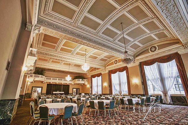 """""""Grand"""" is an understatement. The Grand Ballroom has been painstakingly restored to its original (1917) appearance. #hotel340"""