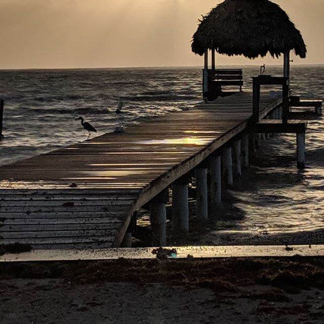 Just another early morning on Ambergris Caye
