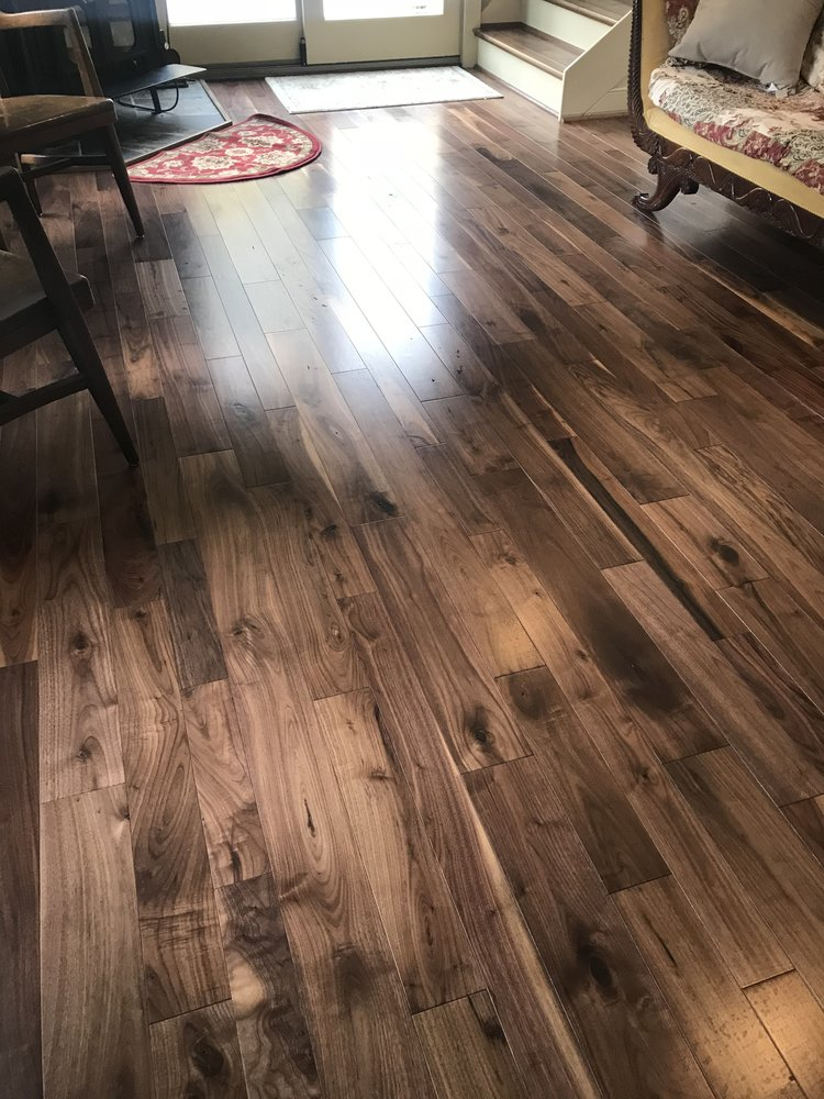 This Somerset solid walnut hardwood flooring was installed by our team in July of 2017.