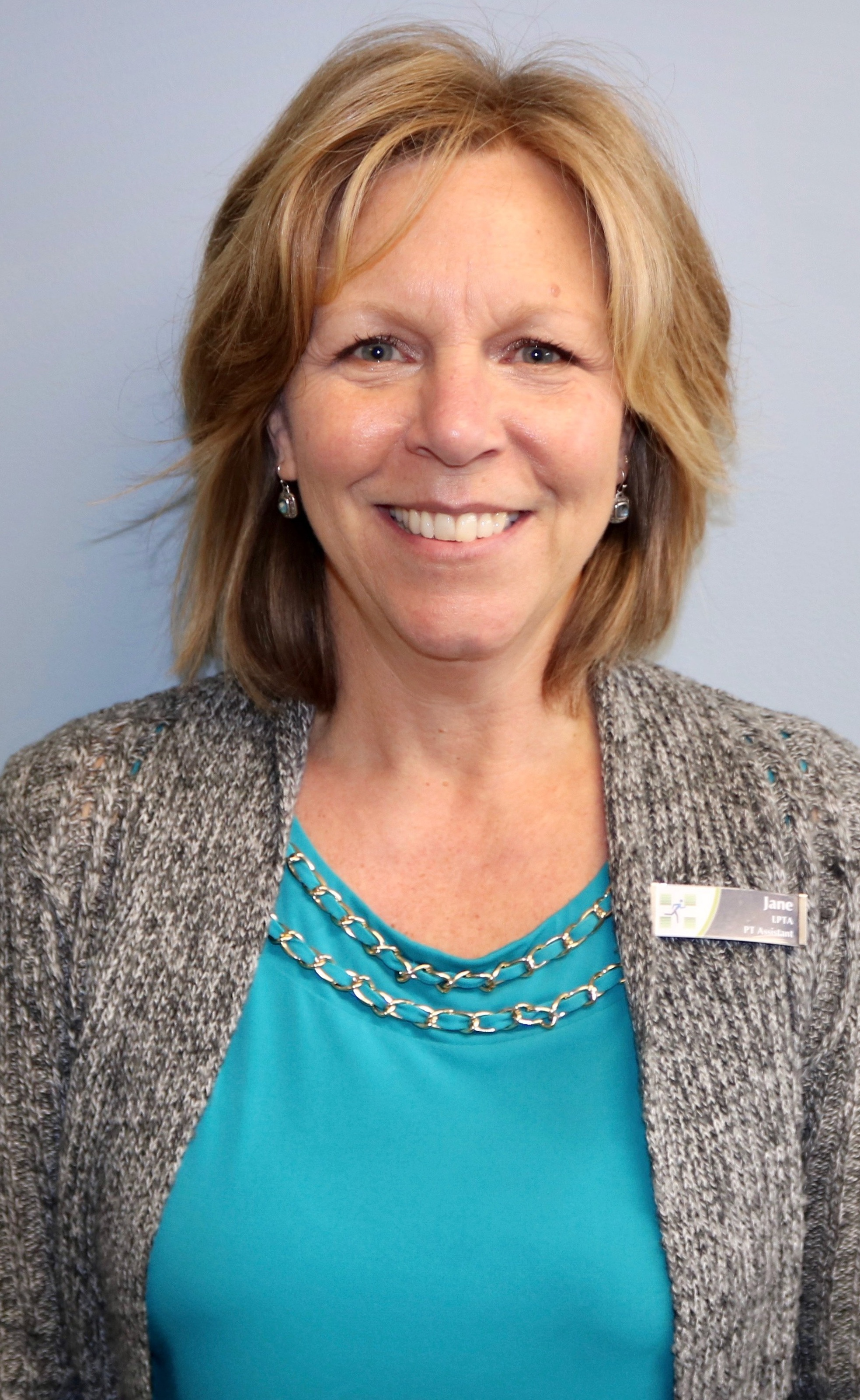 Jane Brooks - PTA  Holt Clinic  Jane graduated from Kellogg Community College with an Associate Degree in Applied Science in 2013 and joined ORS the same year. She is trained in the Graston Technique® as well and various other manual therapy techniques. Jane has over 20 years' experience serving the public while working at the infamous Pennway Coffee Shop. She enjoys boating and fishing at Houghton Lake with her family and children, Sam and Joe.
