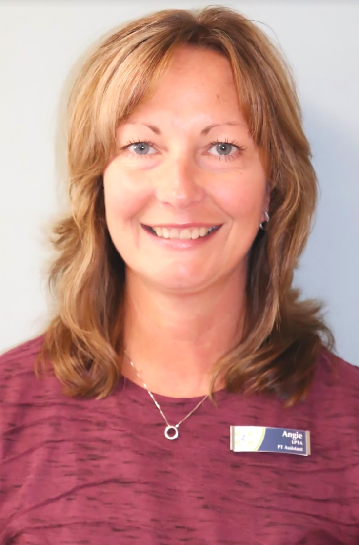 Angie Fiedler - PTA  Total Joint & Aquatic Center  Angie returned to ORS as a PTA in 2002 after working as an aide in the early nineties giving her almost 20 years with the company combined. She received her Associates Degree in Applied Science from Kellogg Community College in 1995. She is trained in the Graston Technique® and has extensive experience treating with the PiezoWave2. She has worked in various settings such as outpatient rehab, home care, acute care and in skilled nursing facilities. Angie has worked at the Total Joint and Aquatic Center since its opening in 2004. Her various continuing education courses consist of Total Joint Replacements, Aquatic Therapy, Wound Care and Ulcer Prevention, Patients at Risk for Falls, and Geriatric Therapeutic Exercise. Angie enjoys spending time with family, traveling, walking her dog and following Michigan State sports.