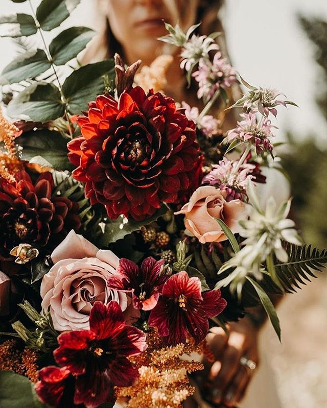 As a Florist, weddings are... fulfilling beyond measure; I always over shop for flowers, cut from my yard for boutonnieres & drive at  l e a s t  10 miles below the speed limit when I'm headed to a venue on the big day. It's my weekly clients though, and travel, and collaborations (like this one with @brandynicholsphoto ) where I get to really stretch my creative legs and I need that! Six or so more weddings until the new year and tons of inspiration in-between. ♥️