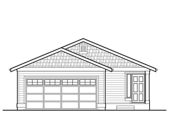 1272R.2 - Sq. Ft.: 1272 Sq. Ft.Bed: 3Bath: 2Garage: 2 Car