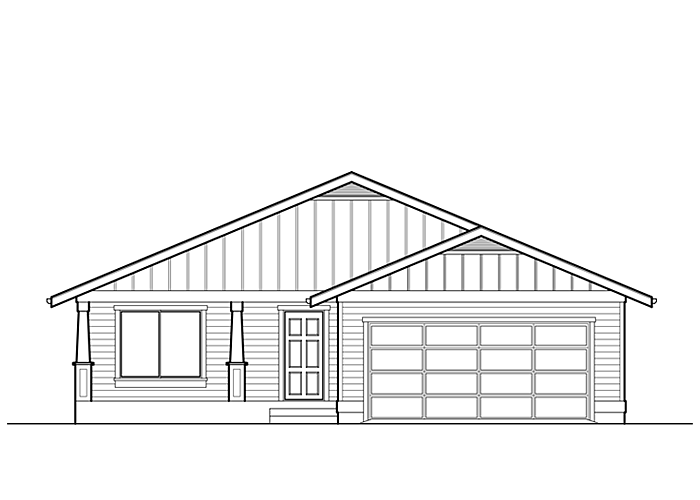 1451R.2 - Sq. Ft.: 1451 Sq. Ft.Bed: 3Bath: 2Garage: 2 Car